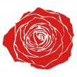 Red rose — Stock Vector #1793902