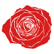 Royalty-Free Stock Vector Image: Red rose