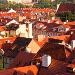 czerwone dachy Pragi — Zdjęcie stockowe