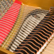 Inside Baby Grand Piano — Stock Photo