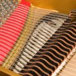 Stock Photo: Inside Baby Grand Piano