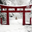 Stock Photo: Winter Chinese Garden