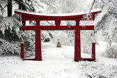 Winter Chinese Garden — Stock Photo