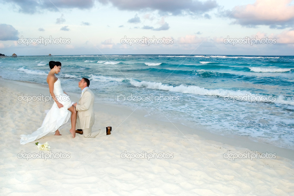 Crazy beach wedding
