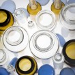 Stock Photo: Top view of pharmaceutical vials
