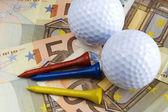 Price of golf — Stock Photo