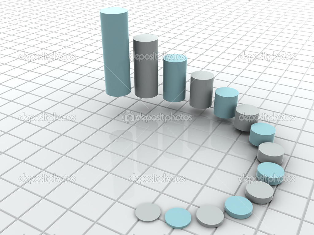 3d business statistics — Stock Photo #1309916