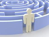 Labyrinth and man — Stock Photo