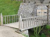 The old wooden bridge — Stock Photo