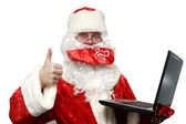 Good news from Santa Claus. — Stock Photo