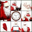 Royalty-Free Stock Photo: Collage illustrating Santa Claus.
