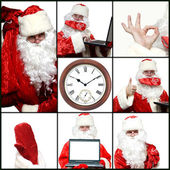 Collage illustrating Santa Claus. — Stock Photo