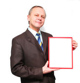 Business Man - Banner Add — Stock Photo