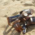 Sandals on beach — Stock Photo #1311287