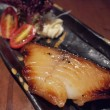 Japanese style grilled black cod — Stock Photo