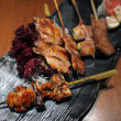 Skewer platter — Stock Photo