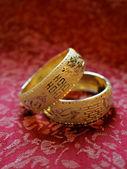Chinese traditional wedding bangles — Stock Photo