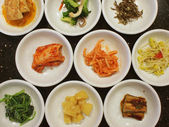 Appetizers in a Korean cuisine — Stock Photo