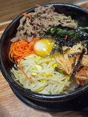 Korean style hot stone pot rice — Stock Photo