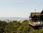 Kiyomizu Temple and city skyline — Stock Photo