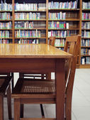 A corner in school library — Stock Photo