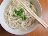 Chinese style plain noodles — Stock Photo