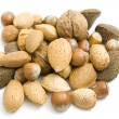 Handful of nuts — Stock Photo