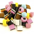 Liquorice sweets against white — Stock Photo #1337037