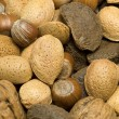 Selection of nuts - Foto Stock