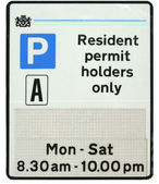 Resident Parking Sign — Stock Photo