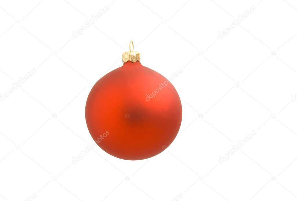 Isolated red Christmas bauble  Stock Photo #1337115