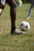 Fotbal v parku — Stock fotografie
