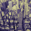 Stock Photo: Manhattan Skyline in Duotone
