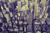 Manhattan Skyline in Duotone — Stock Photo