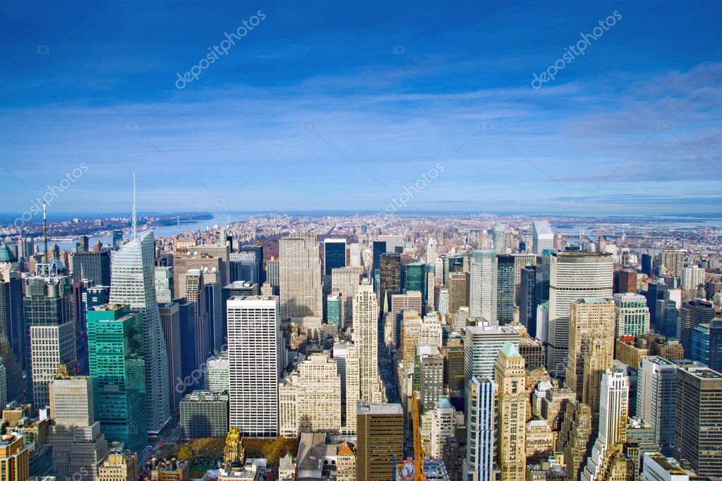 Manhattan Skyline in Midtown New York  Stock Photo #1518380
