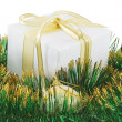 White gift box — Stock Photo