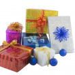 图库照片: Color gift boxes