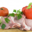 Royalty-Free Stock Photo: Raw meat and sweet red pepper