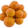 Heap of ripe fresh juicy tangerines - Stock Photo