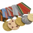 The medals of soviet heroes - Foto Stock