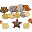 Medals of soviet heroes — Stock Photo #1387465