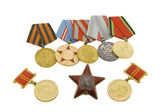 The medals of soviet heroes — Stock Photo