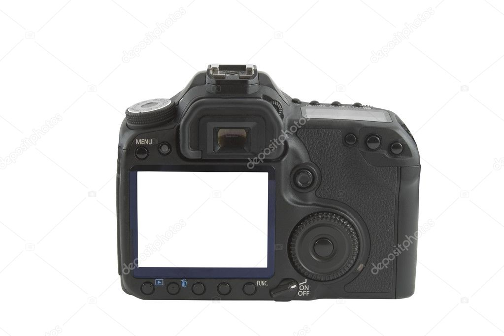 Display on camera isolated over white background  Stock Photo #1386138