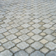Grey stone block paving — Stock Photo
