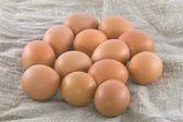 Rural eggs — Stock Photo
