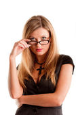 Pretty woman with glasses — Stock Photo