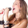 Beautiful singer — Stock Photo #2185373
