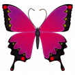Emo butterfly - Stock Vector