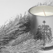 Fir tree and candle — Stock Photo