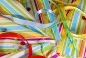 текстиль, ленты & кнопки — Стоковое фото